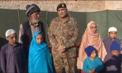آرمی چیف کی ملک کیلئے اپنے تین بچوں کی قربانی دینے والے محمد علی خان اور ان کے اہلخانہ سے ملاقات