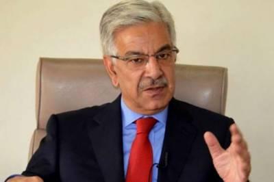 حکومت پر امن اور دوستانہ ہمسائیگی کے وژن کے ساتھ تمام ممالک کے ساتھ اچھے تعلقات کی پالیسی پر عمل پیرا ہے:خواجہ آصف