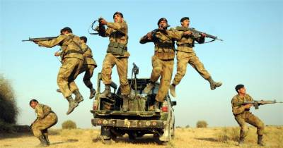 ایف سی بلوچستان نےسرچ آپریشن کے دوران مختلف علاقوں سے بیس مشتبہ دہشتگردوں کو گرفتار