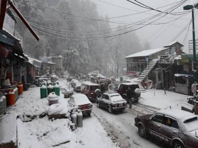 برفباری اور بارش سے سردی شدت اختیارکرگئی۔