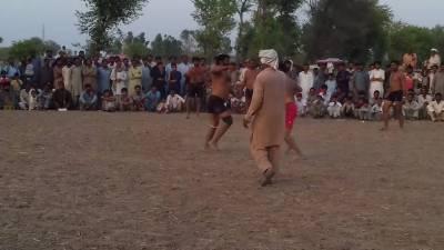 منڈی شاہ جیونہ جھرکی میں سالانہ کبڈی ایونٹ کی مناسبت سے کبڈی کا دلچسپ مقابلہ ہوا