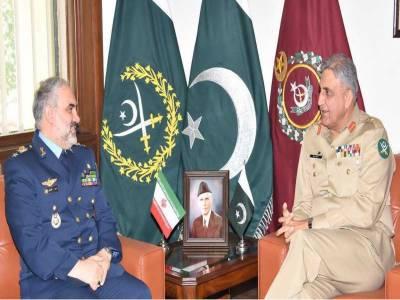 آرمی چیف جنرل سے ایران کی فضائیہ کے کمانڈر لیفٹیننٹ جنرل کی ملاقات