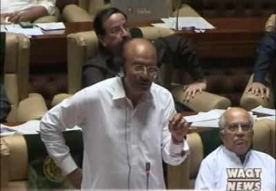 سندھ اسمبلی کے اجلاس میں نثار کھورو کا اظہار خیال