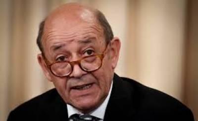 ایران مشرقی وسطیٰ میں جاری بحران کے حل کے لیے مثبت رویہ اختیارکرے: فرانسیسی وزیرخارجہ