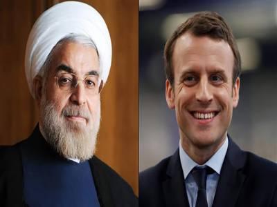 امریکا نے جوہری معاہدے کی خلاف ورزی کی، ایرانی صدر کی فرانسیسی ہم منصب سے ٹیلی فون پر گفتگو