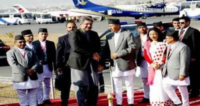 وزیراعظم دوروزہ دورے پر نیپال، کھٹمنڈو ایئرپورٹ پر شاہد خاقان عباسی کا استقبال ، نیپالی ہم منصب سے وزیر اعظم منتخب ہونے پر مبارکباد دی