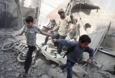 شام میں حکومتی اور روسی فورسز کی بمباری نے بچوں پر قیامت ڈھا دی