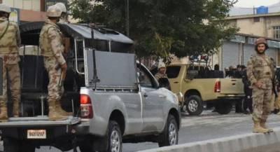 ایف سی بلوچستان نے خفیہ اطلاع پر دہشتگردوں کے خیفہ ٹھکانوں پر کارروائی کر کے بھاری مقدار میں اسلحہ اور گولہ بارود برآمد کر لیا