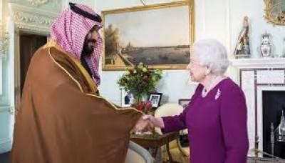 شہزادہ محمد بن سلمان برطانوی حکومت کی دعوت پر برطانیہ کے دورے پر پہنچے