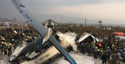 نیپال میں کھٹمنڈو ایئرپورٹ پر طیارہ حادثے کا شکار,انچاس مسافر جاں بحق