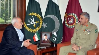 آرمی چیف جنرل قمر جاوید باجوہ سے ایرانی وزیرخارجہ جواد ظریف نے ملاقات کی