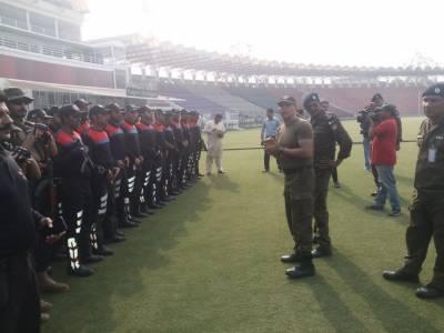 لاہور ماڈل ٹاؤن ڈویژن پولیس کی PSL میچز کی سیکیورٹی کے پیش نظر قزافی سٹیڈیم میں ہنگامی مشقیں