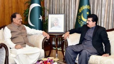 صدر ممنون حسین سے سینیٹ کے نو منتخب چیئرمین محمد صادق سنجرانی کی ملاقات اور باہمی دلچسپی کے امور پر تبادلہ خیال