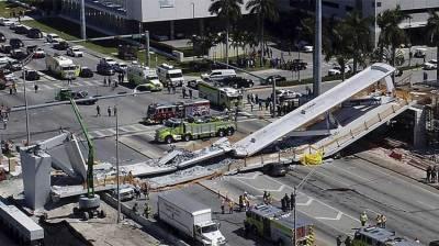 امریکی ریاست فلوریڈا میں پل گرنے سے4افراد ہلاک اور دس زخمی ہو گئے