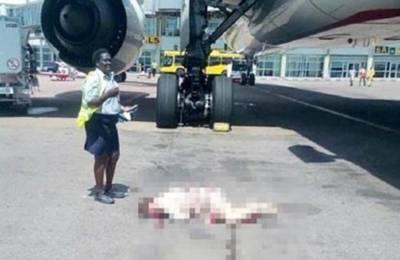 یوگنڈا: اماراتی ایئرہوسٹس جہاز سے چھلانگ لگانے سے زخمی