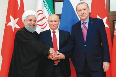 شام کے موضوع پر ترکی میں کانفرنس ، روسی ، ترک اور ایرانی صدور شریک ہوں گے۔