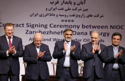 ایران اور روس کے نجی شعبے میں آئل فیلڈ کی توسیع کے سمجھوتے پر دستخط