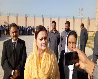 Maryam Aurangzeb Media Talk Out Side The Nab Court .