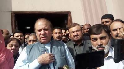 Nawaz Sharif Media Talk Out Side The Nab Court 16 March 2018