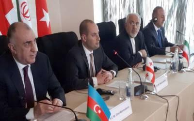 ایران، ترکی، جارجیا اور آذربائیجان پر مشتمل چار فریقی اجلاس میں تعاون کی دستاویز پر دستخط