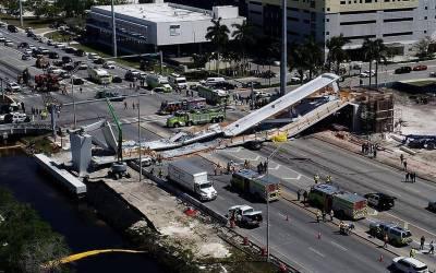 امریکا: میامی میں پل گرنے سے ہلاکتوں کی تعداد 4 ہو گئی۔