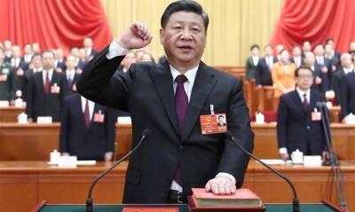 چین کے صدر زیونگونگ نے بیجنگ میں دوسری دفعہ اپنےرکن کا حلف اٹھا لیا