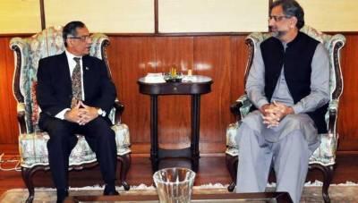 وزیراعظم شاہد خاقان عباسی کی چیف جسٹس ثاقب نثار سے ملاقات، عدلیہ بے خوف ہوکر شفاف طریقے سے کام کرتی رہے گی، چیف جسٹس نے یقین دہانی کرائی