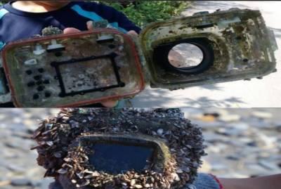 سمندر میں کھویا ہوا کیمرا دو سال بعد مل گیا