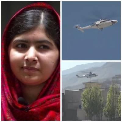 سوات کی گل مکئی ملالہ یوسف زئی پانچ سال بعد اپنے آبائی علاقے سوات پہنچ گئیں