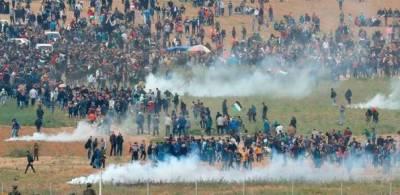 اسرائیلی فوج کی انسانیت سوز کارروائیوں میں شہید ہونیوالے فلسطینیوں کی تعداد سترہ , ہزاروں زخمی