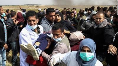 ظالم فوج نے غزہ پٹی میں احتجاج کرنے والے 17فلسطینیوں کو شہید کر دیا جبکہ ہزاروں زخمی