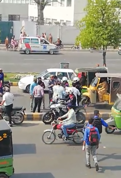 Traffic Warden And Dolphin Force Tyrannizes On Old Man