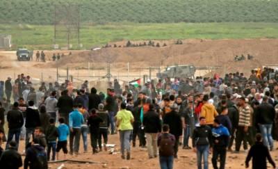غزہ ایک بار پھر فلسطینیوں کے خون سے نہاگیا،نہتے فلسطینیوں پرصہیونی فوج نے گولیاں برسادیں، نو فلسطینی شہید سینکڑوں زخمی