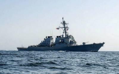 امریکی فوجی بحری جہاز شام کے ساحل کے قریب پہنچ گیا۔