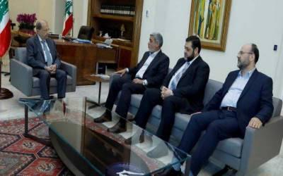 حماس کے وفد کی لبنانی صدر سے ملاقات ،فلسطین کی صورتحال پر تبادلہ خیال