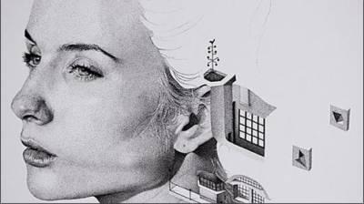فرانس سے تعلق رکھنے والے ڈیوڈ بائیونامی آرٹسٹ نے انسانی چہرے کا پورٹریٹ بنانے کی ٹھانی