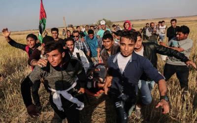 اسرائیلی فوجیوں کی غزہ کی سرحد کے نزدیک فائرنگ سے5 فلسطینی زخمی