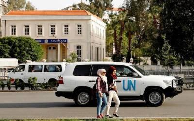 شامی علاقے دوما میں اقوام متحدہ کی تفتیشی ٹیم پر فائرنگ