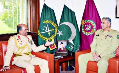سری لنکن آرمی چیف کی جنرل باجوہ سے ملاقات