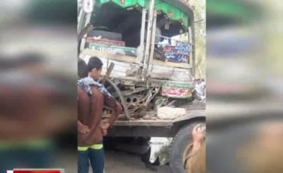 لیہ میں ایم ایم روڈ پر مسافر بس اور ٹریکٹر ٹرالی میں تصادم کے نتیجے میں6 افراد جاں بحق ہ