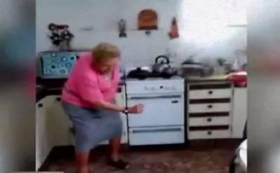 کچن میں کیوٹ دادی اماں کے لٹکوں اور جھٹکوں نےسماں باندھ دیا