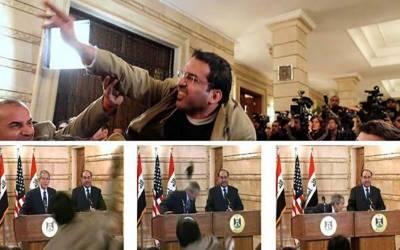 بش کو جوتا مارنے والے صحافی کا عراق کے پارلیمانی انتخابات میں حصہ لینے کا اعلان