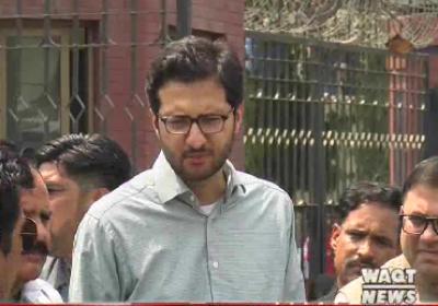 Ahmad Ahsan Iqbal Media Talk outside the Service Hospital