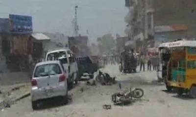 بنوں میں پولیس وین کے قریب دھماکہ, ایک پولیس اہلکار شہید دس افراد زخمی