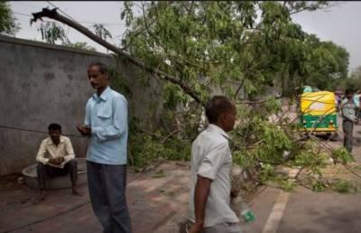 بھارت کی مختلف ریاستوں میں تیزآندھی اور طوفان کے باعث مختلف حادثات میں100 کے قریب افراد ہلاک جبکہ150 سے زائد زخمی