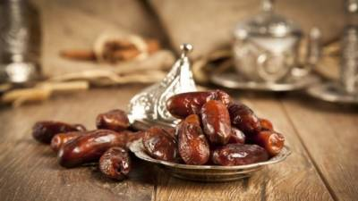 Stalls of Dates in the start of Ramadan