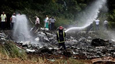 کیوبن ایئر لائن کا بوئنگ سیون تھری سیون طیارہ ہوانا کے ہوائی اڈے سے اڑان بھرتے ہی گر کر تباہ ہوگیا، طیارے میں سوار110 افراد ہلاک