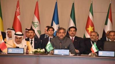 استنبول میں او آئی سی کا اجلاس، وزیراعظم شاہد خاقان عباسی کی فلسطینیوں پر اسرائیلی مظالم کی مذمت،