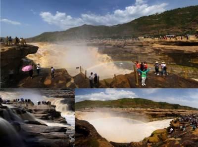 ے شمال مغربی چین کے شانچی صوبوں میں ییوچیان کاؤنٹی میں پیلے دریا کے ہاوو آبشار