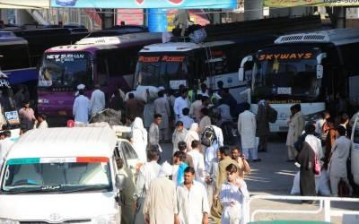 عید پر زائد کرایہ لینے والے ٹرانسپورٹرز کے خلاف کارروائی کا فیصلہ